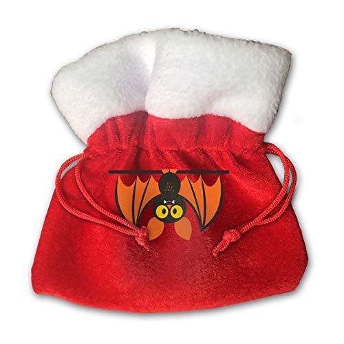 - CYINO Personalized Santa Sack,Boo Jointed Halloween Portable Christmas Drawstring Gift Bag (Red)