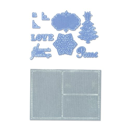 Sizzix Framelits Die Set 9PK with Textured Impressions - Collage Frames Set by Rachael Bright