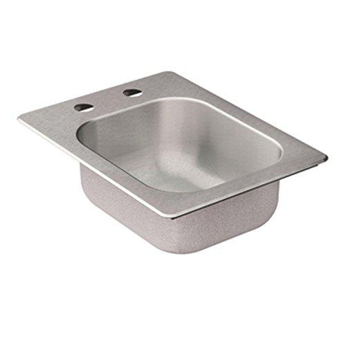 Moen Kg2045522 2000 Series 20 Gauge Single Bowl Drop In Sink, Stainless Steel, 16.625
