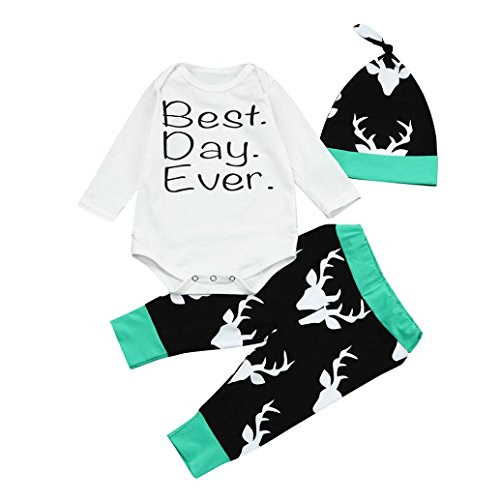 Shop the Look Memela(TM) NEW F/W Unisex Baby Best Day Ever Layette Gift Set Cloth Set 0-18mos (0-3 mos) - First Christmas Sleeper