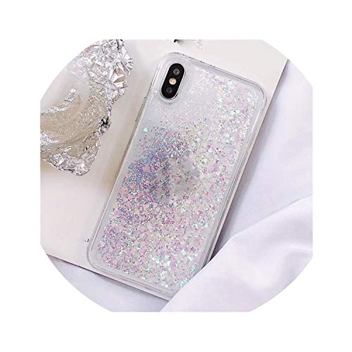 Sequin Yoke - Phone Case Bling Sequins,White,for iPhone 6S