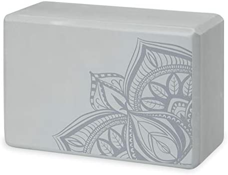 Supportive Latex-Free EVA Foam Soft Non-Slip Surface for Yoga Pilates Gaiam Yoga Block Meditation
