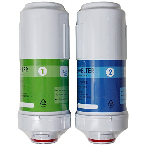 Replacement Filters for Crewelter 9 Alkaline Water Ionizer (Set of 2 Filters) ()