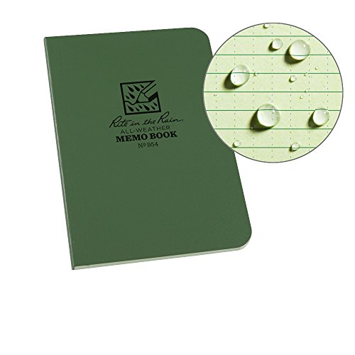 Rite In The Rain Weatherproof Soft Cover Pocket Notebook, 3 1/2