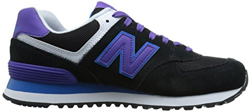 New Balance WL574 B, Damen Sneakers, Schwarz (MOX BLACK/PURPLE)