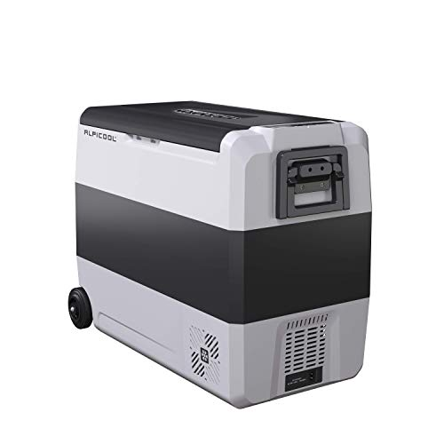 Alpicool T60 Dual Temperature Control Portable Refrigerator 63 Quart Compact Fridge Mini Freezer -12/24V DC