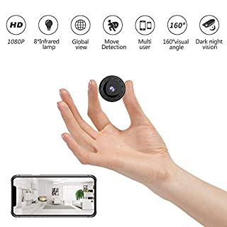 Spy Camera Wireless Hidden Wi-Fi Small Camera HD 1080P Portable Home Security Cameras Covert Nanny Cam Tiny Indoor Outdoor Video Recorder Motion Activated Night Vision