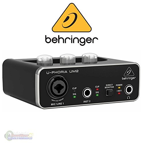 BEHRINGER U-PHORIA UM2 48kHz 2-channel USB Audio Interface with XENYX Mic Preamplifier ()
