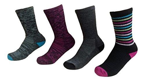 Kirkland Ladies' Trail Socks Pack of 4 Merino Wool