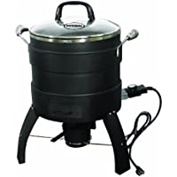 Butterball Oil-Free Electric Turkey 18lb Capacity Roaster and Fryer (Black)