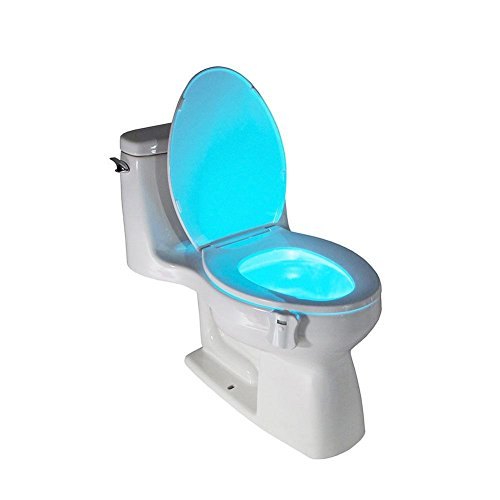 Sensor Toilet Seat LED Lamp Motion Activated Toilet Bowl Night Light (Floater Mold)