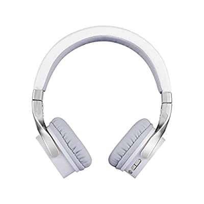 Wireless Bluetooth Headphones Over Ear, Adjustable Headset with Noise Isolation Memory-Protein Earmuffs, Hi-Fi Stereo Foldable Headphone with Mic, Perfect for Travel Work TV Computer iPhone