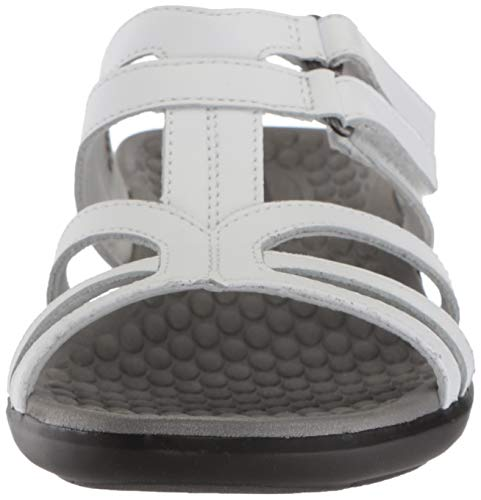 Leather Us White Clarks Sandal 7 Pilot Women's Medium Sonar XPXqwHF
