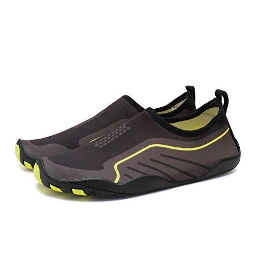 Cior Heren Womens Barefoot Sneldrogend Watersport Aqua Schoenen Met 14 Drainage Gaten Voor Zwemmen, Wandelen, Yoga, Meer, Strand, Tuin, Park, Rijden S.black