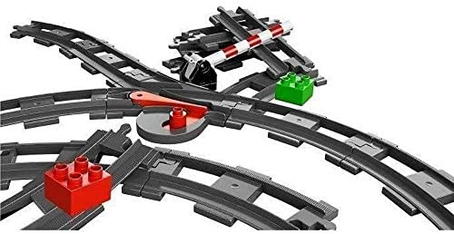Zubehör-Set LEGO DUPLO Eisenbahn Weiche schwarz Ergänzung