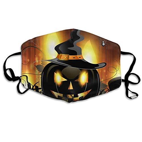 SOADV Mouth Masks Halloween Pumpkin Pattern Mouth Masks