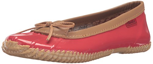 Chooka Women's Waterproof Comfort Ballet Flat, Red, 7 M US