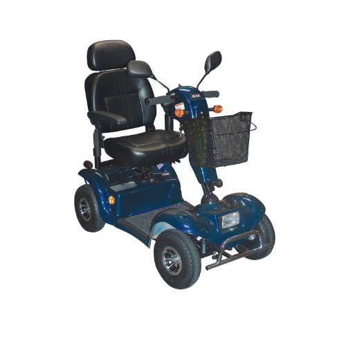 Drive Medical Odyssey Full Size 4 Wheel Scooter with Batteries and Charger, Blue, Full Size ()