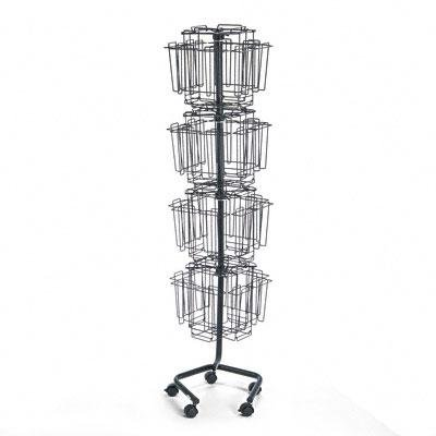Safco - Wire Rotary Display Racks 32 Compartments 15W X 15D X 60H Charcoal ''Product Category: Office Furniture/Display Racks & Cases'' by Original Equipment Manufacture