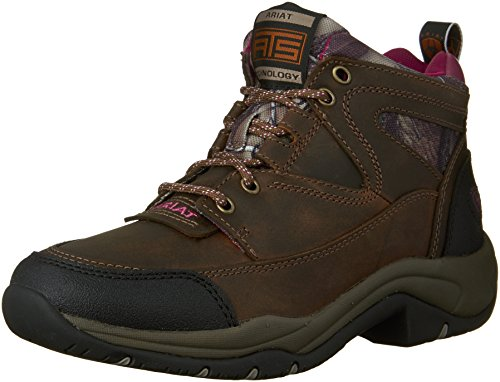 Ariat Women's Terrain Hiking Boot, Pink Multi/True Timber, 8 M US (Pink Riding Boots For Women)