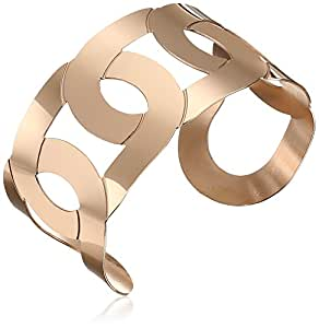 18k Rose Gold-Plated Stainless Steel Twist Cuff Bracelet
