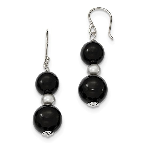 8mm Agate Sterling Silver Earrings - 8
