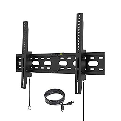 "Fortress Mount TV Wall Mount for Most 40-75"" TVs up to 165 lbs and 9-feet HDMI Cable"