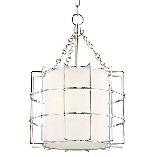 (Hudson Valley Lighting 1516-PN Sovereign Pendant, 2-Light, Polished Nickel)