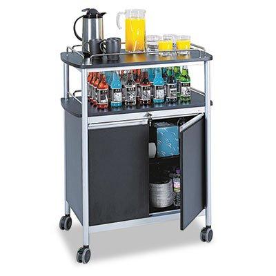 Safco® Carro de carrito de bebidas, bebidas, funda para, BK (unidades