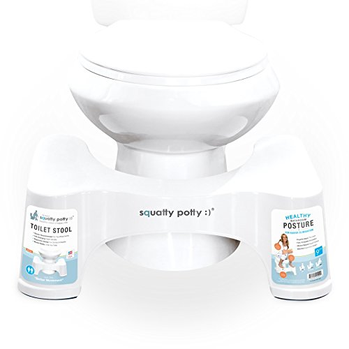 Squatty Potty The Original Bathroom Toilet Stool, White, 9""