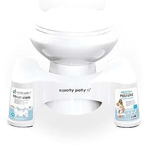 """Squatty Potty The Original Bathroom Toilet Stool, White, 9"""""""