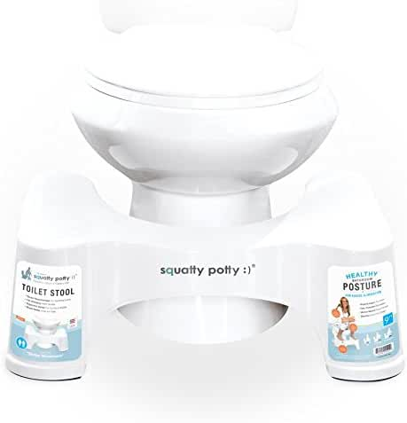 Squatty Potty The Original Bathroom Toilet Stool, White, 9