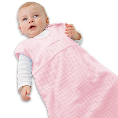 Breathablebaby Body-Breathe Wearable Blanket | Exclusive Body Breathe Fabrics | Helps Reduce Sweating | Prevents Overheating to Keep Baby Dry and Comfortable | Pink | Small
