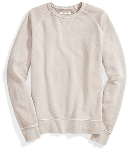 Crew Ribbed Sweatshirt (Goodthreads Men's French Terry Crewneck Sweatshirt, Grey Ridge, Small)