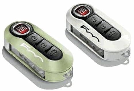 2 x Genuine New Fiat 500 fundas para llaves en luz verde y ...