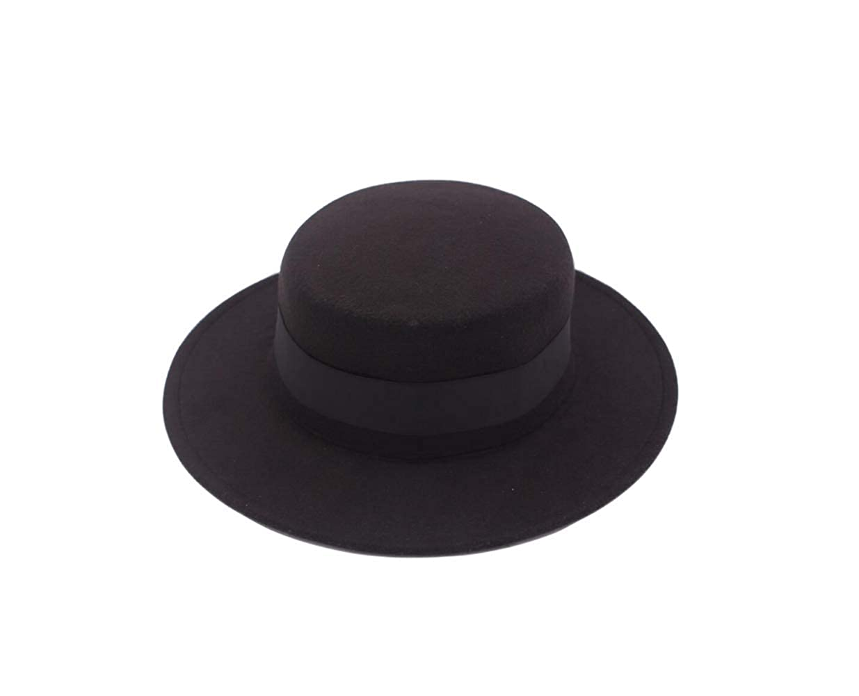 ASTRQLE Classic Black Fashion Fedora Flat Hat Elegant Jazz Hats Brim Church Derby Cap