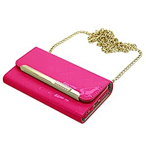 Samrick Executive Specially Designed Leather Purse Wallet Case with Credit Card/Business Card Holder, Screen Protector, Microfibre Cloth, Pink High Capacitive Stylus Pen for Apple iPhone 6 - Hot Pink