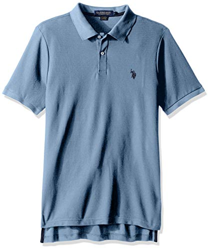 U.S. Polo Assn. Men's Ultimate Pique Polo, Holland Blue Heather, L