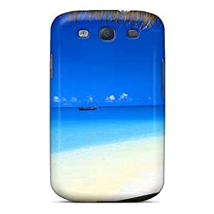 Galaxy S3 Cover Case - Eco-friendly Packaging(view From Beach Bungalow In The Maldives)