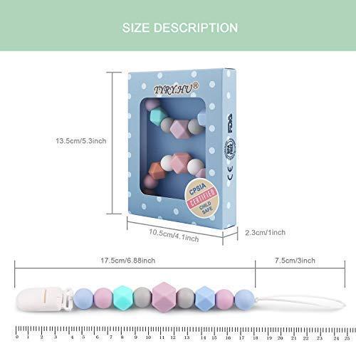 Amazon.com: TYHY.HU - Juego de 2 clips para chupete, perlas ...