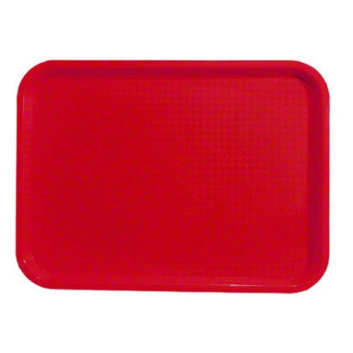 Foodservice Essentials FFT-1216RD Fast Food/Cafeteria Tray, 12-Inch x 16-Inch, Red