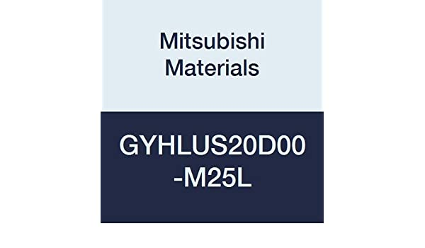 1.250 H Left Mitsubishi Materials GYHLUS20D00-M25L Series GY Modular Type External Grooving Holder with Left M25 Modular Blade 0.787 Grooving Depth 1.250 W 6.000 L 0/° Angle
