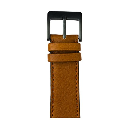 Roobaya | Premium Sauvage Leather Apple Watch Band in Cognac | Includes Adapters matching the Color of the Apple Watch, Case Color:Space Gray Aluminum, Size:38 mm by Roobaya