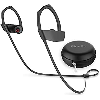 Bluetooth Earbuds, BlueFit M1 Wireless Waterproof Headphones Ear Buds Earphones Headset with Mic for Running Sport, Noise Cancelling