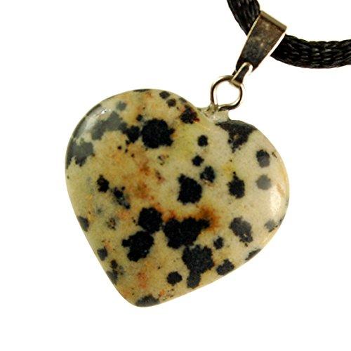 Big Heart Collection - 20mm Classic Dalmatian Jasper Beige Brown Black, 20