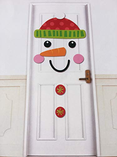 Christmas Snowman Front Door or Wall Cover Decoration