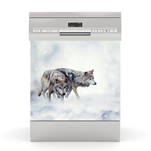 Dishwasher Proof Sticker Wolf wodtke-werbetechnik
