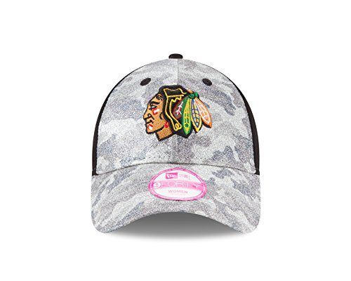 New Era Chicago Blackhawks Women's Glamo Camo Hat