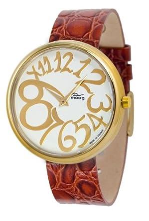 Moog Damen-Armbanduhr Analog Leder braun M41671-019