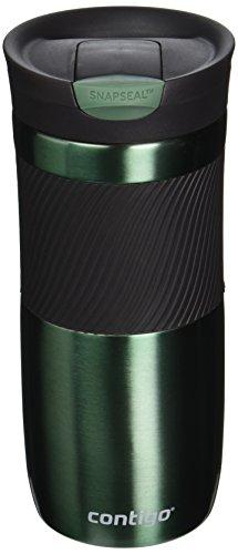 Contigo SnapSeal Vacuum-Insulated Stainless Steel Travel Mug, 16-Ounce, Greyed Jade